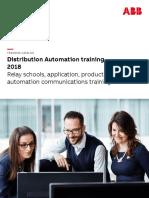 2018 Distirbution Automation Training Brochure Rev Y