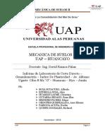 Corte Directo-Informe Laboartorio