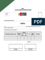 Anexo6 Modelo Unico Nacional de Certificado de Estudios