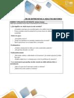 Sistematización de Entrevistas a Adultos Mayores