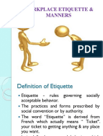 Workplace Etiquette Manners