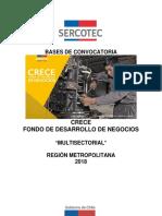 Bases Crece 2018 Multisectorial Metropolitana