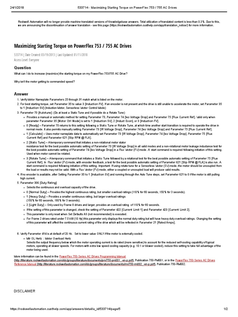 533714 - Maximizing Starting Torque on PowerFlex 753 _ 755