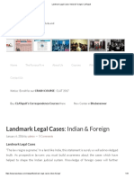 Landmark Legal Cases_ Indian & Foreign