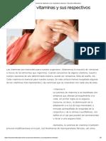 La Carencia de Vitaminas y Sus Respectivos Sintomas - Barcelona Alternativa
