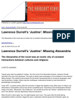 Lucette Lagnado - Lawrence Durrell's 'Justine'_ Missing Alexandria - 2013-08-12