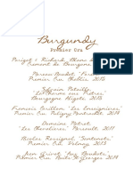 Premier Cru Wine Pairing List
