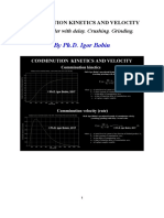 COMMINUTION KINETICS AND VELOCITY Second order with delay. Crushing. Grinding. By Ph.D. Igor Bobin
