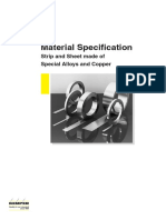 Material Specification Special Alloys and Copper