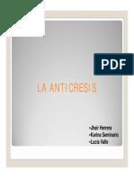 DERECHO CIVIL X (GARANTÍAS) - ANTICRESIS [Modo de compatibilidad](2)