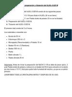 Protocolo de Preparación y Titulación Del H2SO4