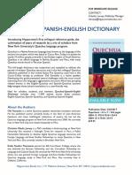 Quechua-Spanish-English Dictionary Press Release
