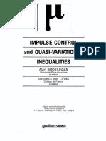 Impulse Control and Quasi-Variational Inequalities - A. Bensoussan & J- Lions