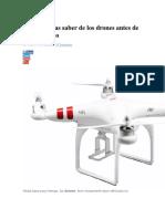 Qué Necesitas Saber de Los Drones Antes de Comprar Uno
