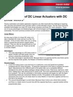 DC Linear Actuators vs DC Linear Motors