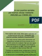 Conexión Con Puertos Seriales Por Tramo Celular Con AWUSB y CWAN 3G