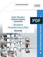 Guía Técnica Planeación Didáctica Argumentada