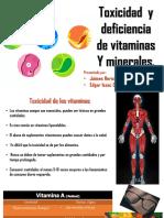 Toxicidad de Minerales y Vitaminas