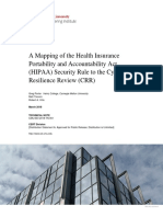 A Mapping of the Health Insurance Portability and Accountability Act (HIPAA) Security Rule to the Cyber Resilience Review (CRR)