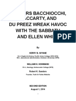 Doctors Bacchiocchi, MacCarty, And Du Preez Wreak Havok With the Sabbath and Ellen White (2nd Edition) - Kerry Wynne, William Hohmann, Robert Sanders