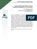 Estratégias de Mercado No Varejo Eletrônico - o Caso B2W