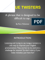 Tongue Twisters Ppt