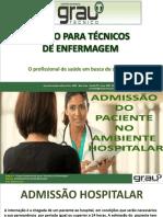 Admissão Do Paciente e Arrumação Dos Leitos