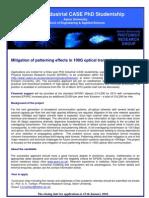 PhD Industrial CASE Ericsson 2009