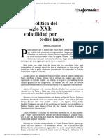 La Jornada_ Geopolítica Del Siglo XXI_ Volatilidad Por Todos Lados