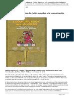 Servindi - Servicios de Comunicacion Intercultural - La Comunicacion Antes de Colon. Aportes a La Comunicacion Indigena - 2016-07-25
