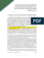Miguel Ayuso. La Constitucion Entre El Neoconstitucionalismo Y El Postconstitucionalismo