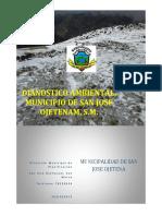 Diagnostico Ambiental San Jose Ojetenam, 2013
