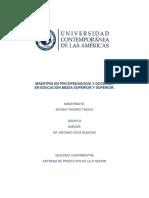 Maestría en Psicopedagogía y Docencia Productos Sesion 1 Segundo Catrimestre