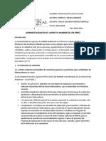 Normas Legales en materia de Medio Ambiente en el Perú