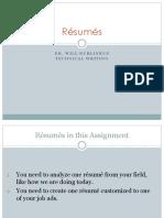 2 Resumes