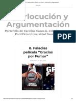 """Falacias Película """"Gracias Por Fumar"""" – Interlocución y Argumentación"""