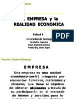 CL-1. La Empresa y La Realidad Economica