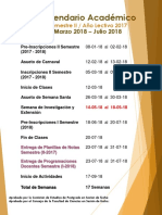 Calendario Académico 2017-02 Postgrado