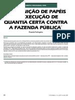 PERLINGEIRO, Ricardo - Redefinicao Dos Papeis Da Fazenda Na Execucao Por Quantia Certa