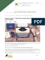 Revisar Um Livro – 7 Revisões Essenciais Após a Primeira Versão