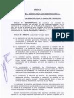 ESTATUTOS NAVALON AGROPECUARIA
