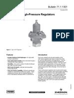 Product Bulletin 1301 Series High Pressure Regulators en 125462