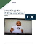 Evidence Against Dr Brian Senewiratne