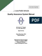 QAS M001 SLPS Quality Assurance Manual