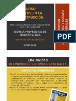 1. Definiciones y Normas Generales