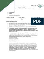 Lista de Isomeria SC Gabarito Pauling
