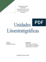 Unidades Litoestratigráficas.