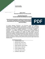 Resolución y lista de funcionarios sancionados por Panamá