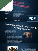 Sistemas de Selección y Nombramiento de Magistrados Ppt