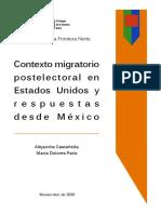 Contexto Migratorio Postelectoral en Estados Unidos y Respuestas desde México